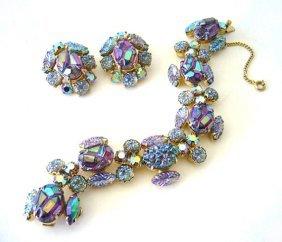 Elsa Schiaparelli metal and rhinestones earrings