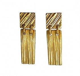 YSL goldtone earrings