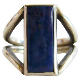 Jack Nutting sterling silver and lapis ring