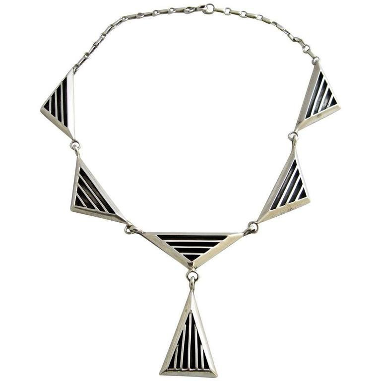 Jack Nutting sterling silver necklace