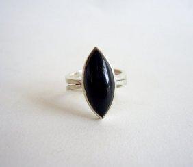 Jack Nutting sterling silver and black jadeite ring