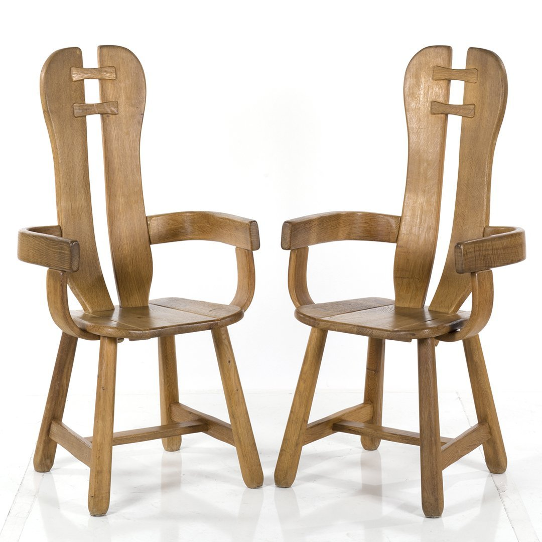 Guillerme and Chambron dining chairs (8) - 3