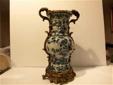 18c Chinese Blue & White Procelain Vase