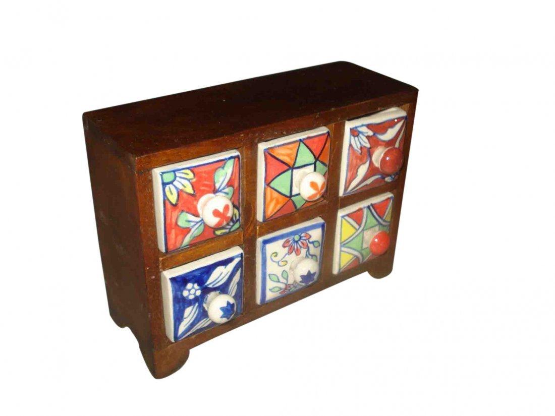 Native Mexican Kitchen 6 Drawer Box
