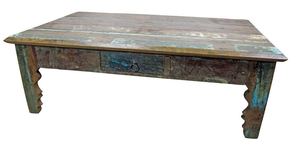 Rustic Native Mexican Reclaimed Wood Coffee Table
