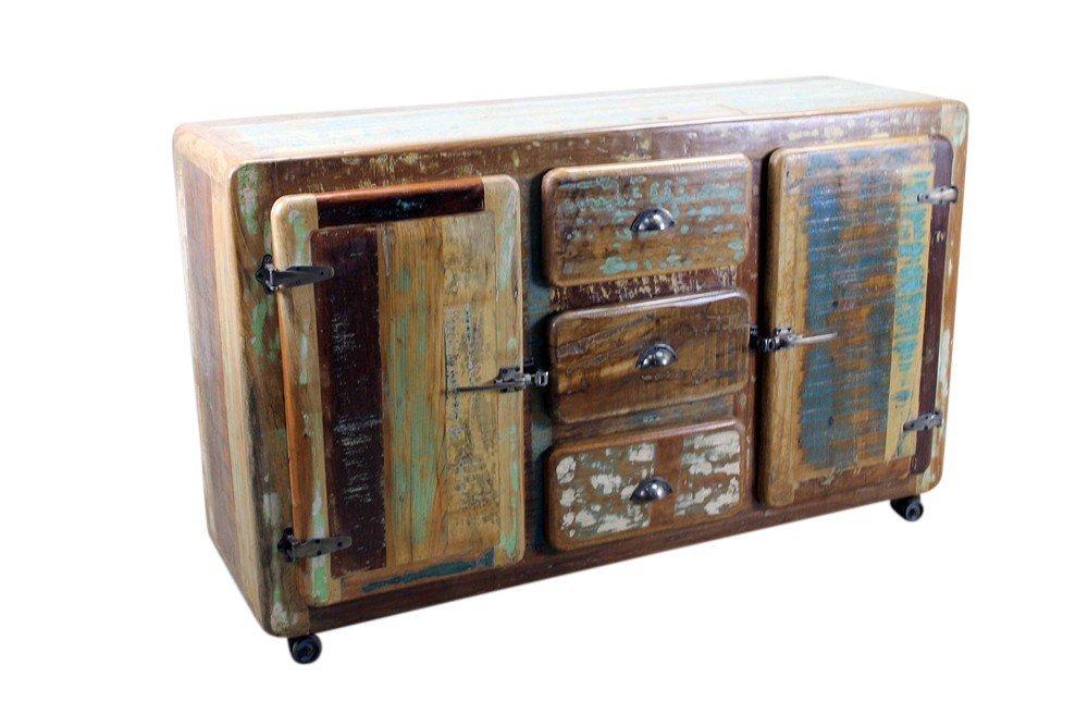 Reclaimed Wood Sideboard on Wheels