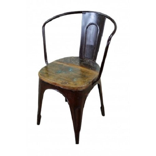 Old World Reclaimed Wood and Metal Chair