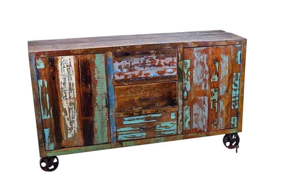 Reclaimed Wooden Sideboard on Wheels
