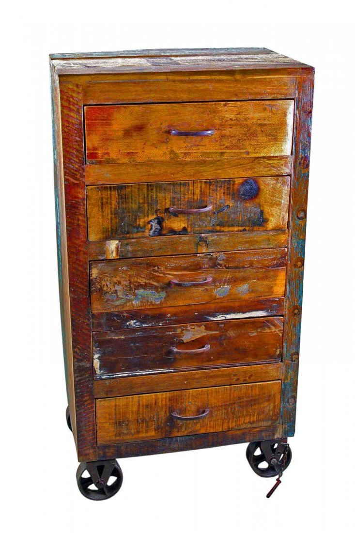 Reclaimed Wooden Chest on Wheels