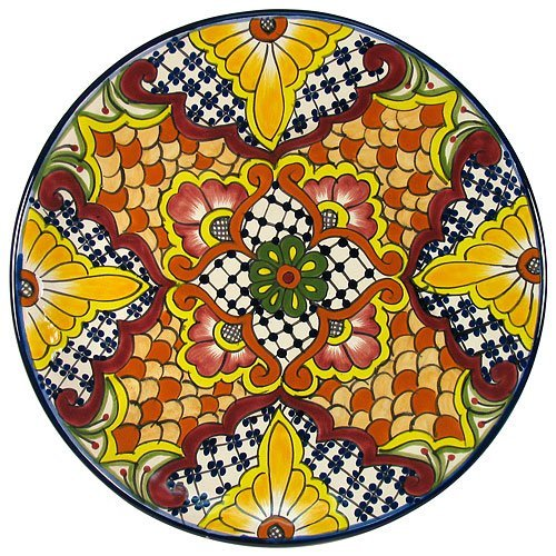 Native Mexican Hand Painted Platter