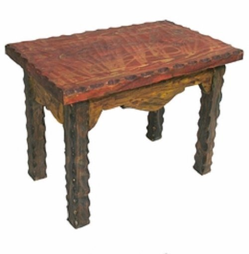 Reclaimed Wooden Painted End Table
