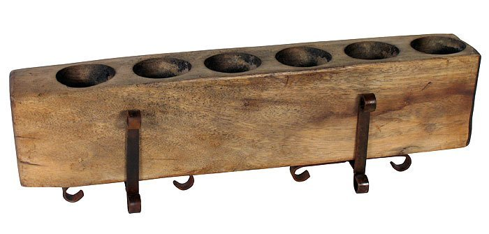 Reclaimed Wood Mexican Candle Holder (Large)