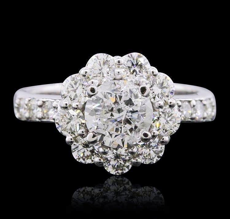 14KT White Gold 2.10ctw Diamond Ring