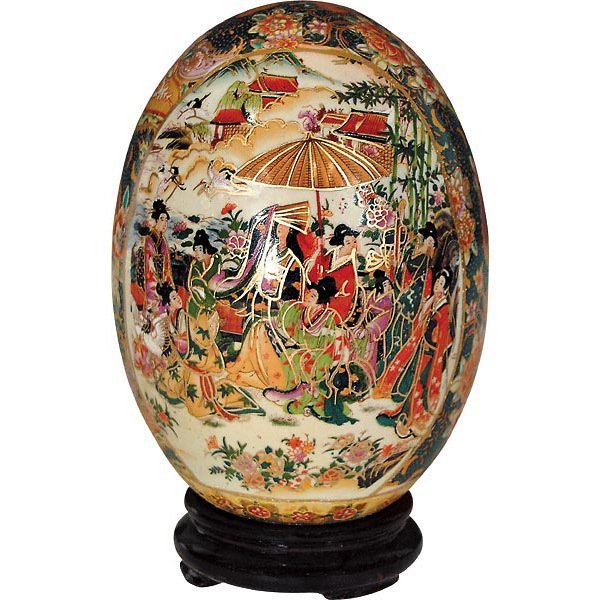 Beautiful Display Egg Asian Theme with Base (NEW)