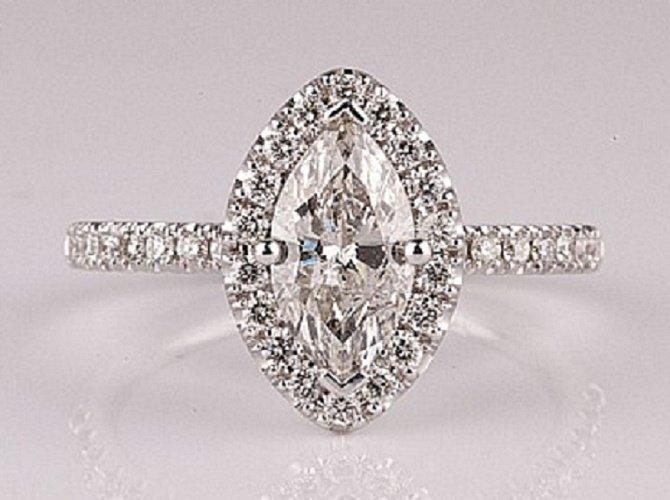 14 kt. White Gold, 1.22CT Diamond Ring