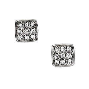 Square Diamond Earrings