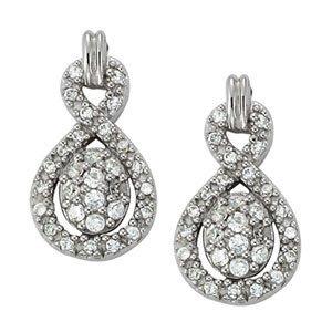 1/2 Carat Infinity Love Diamond Earrings