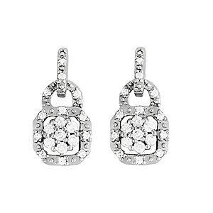 Lock Shape Diamond Earrings