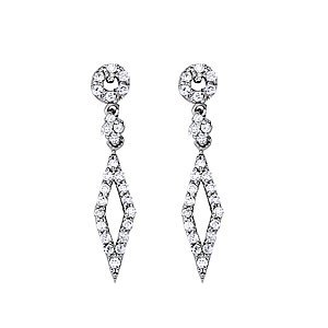 Diamond Kite Earrings in 14K White Gold