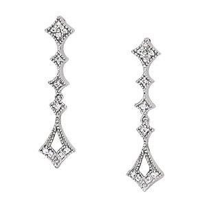 Dangling Chandlier Diamond Earrings