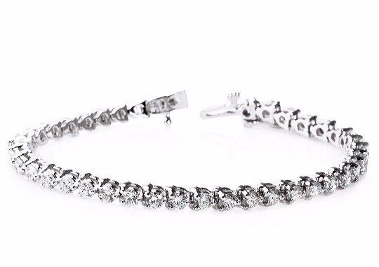 5 Carat 3 Prong Martini Style Diamond Bracelet