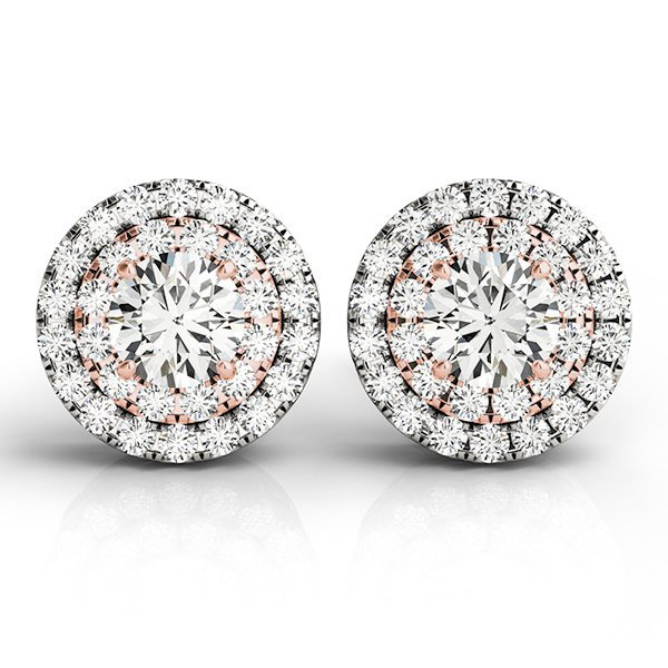 1.5 Carat Diamond Two Tone Studs