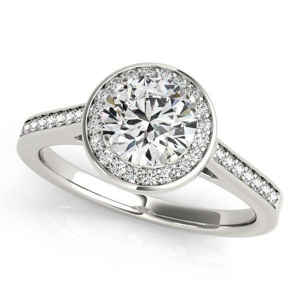 3/4 Carat Bezel Set Straight Accented Diamond Ring in