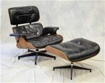 Herman Miller Eames rosewood lounge chair and ottoman,