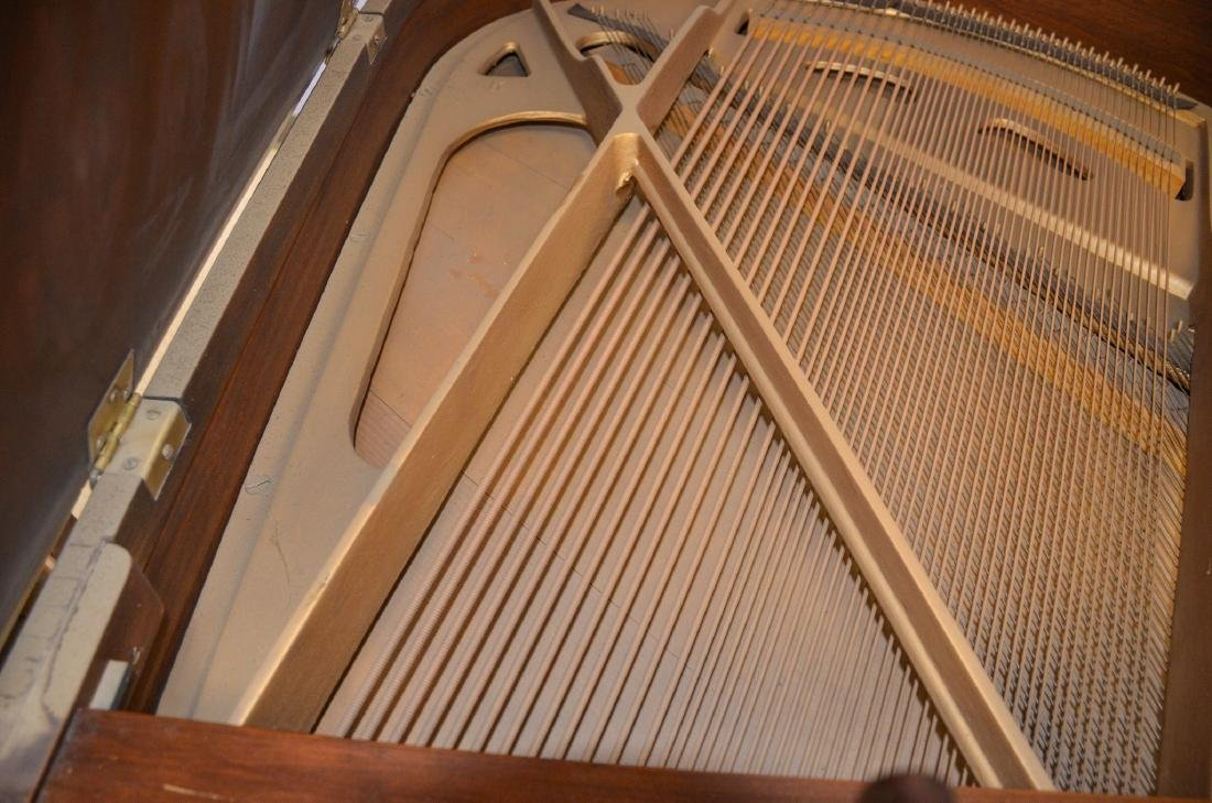 Decker and Co walnut Louis XIV style baby grand piano, - 7