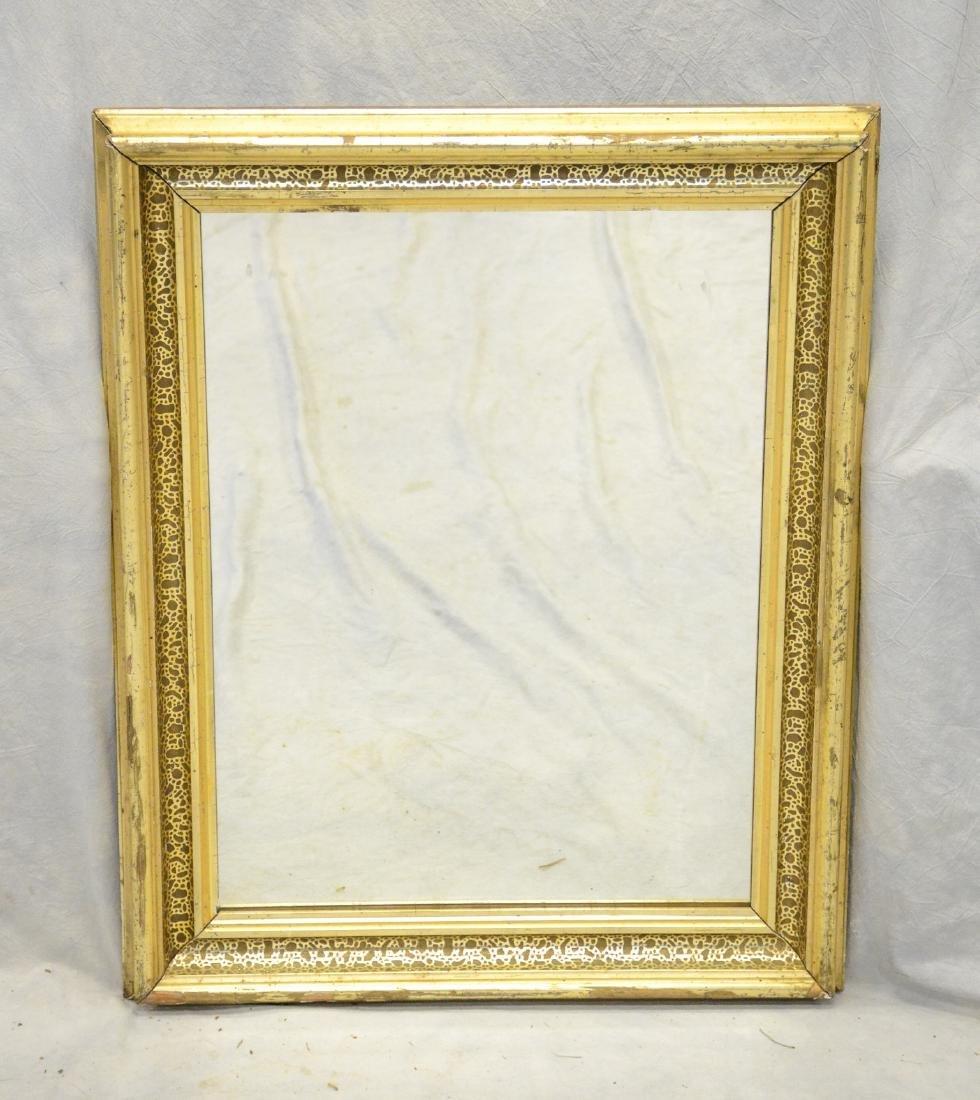 "Gilt framed Victorian wall mirror, 28"" x 22"""