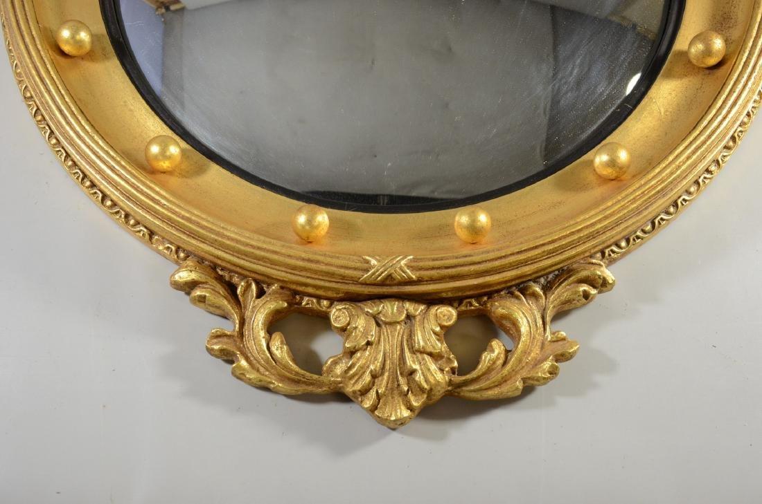 Circular girandole mirror with eagle and arrows at top, - 3