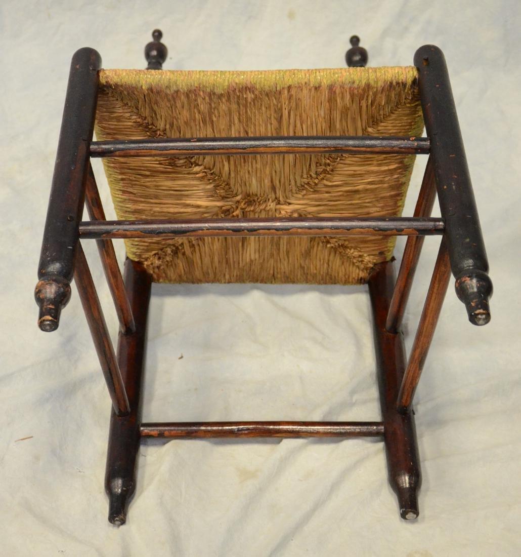Bergen County, NJ 3 slat ladderback side chair, rush - 3