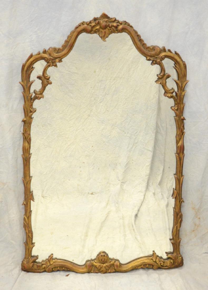 "George III style giltwood mirror, 46"" h, 29"" w"