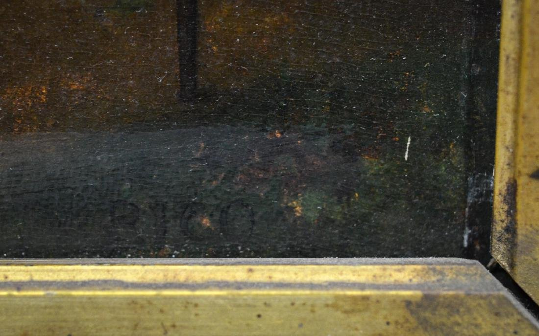 M Rico, oil painting on board, 19th century, signed - 3