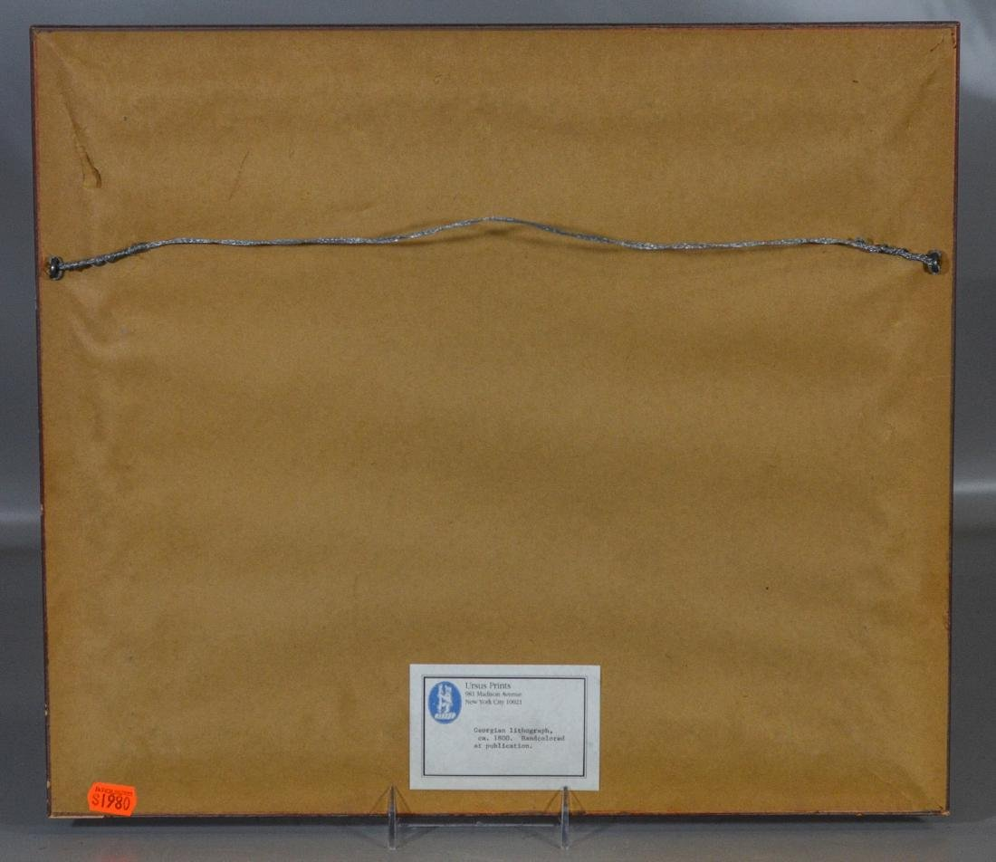 "English lithograph, Seated Dog, c 1800, 8"" x 10"" sight - 3"