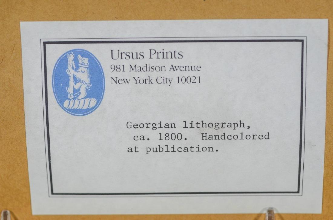 "English lithograph, Seated Dog, c 1800, 8"" x 10"" sight - 4"