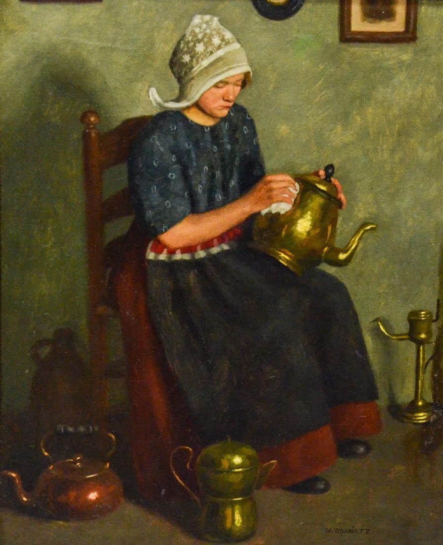 Wilhelm Gdanietz, German, 1893-1962, Lady seated