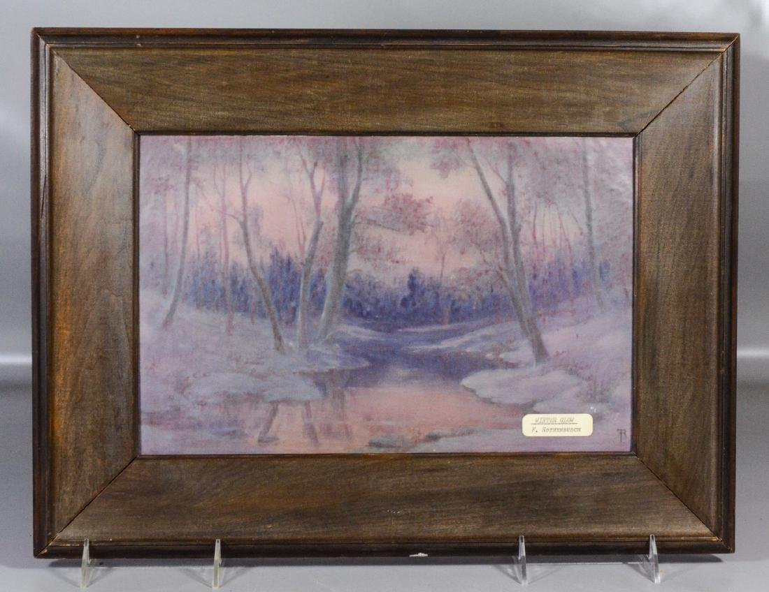 Rookwood Vellum Plaque, decorated by Fred Rothenbusch, - 2