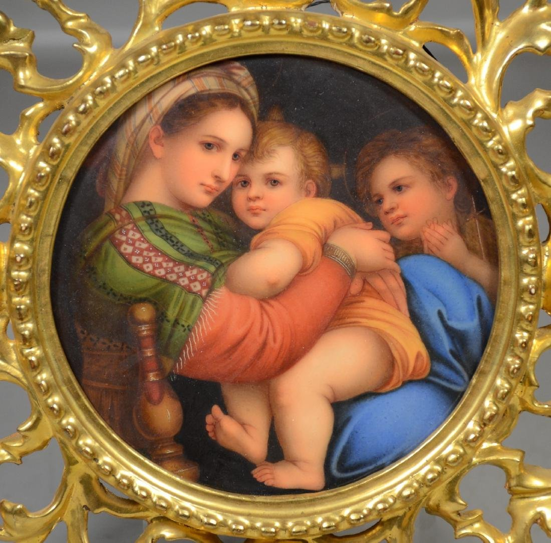 Florentine porcelain plaque after Raphael's Madonna in - 2