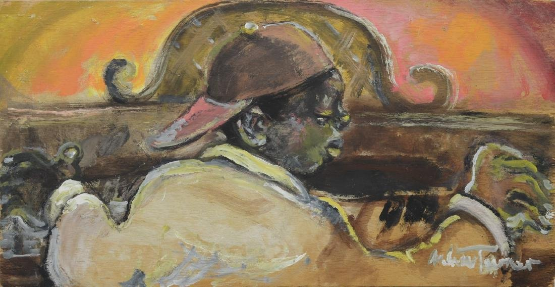 Andrew Turner, American, 194-2001, oil on luan panel,
