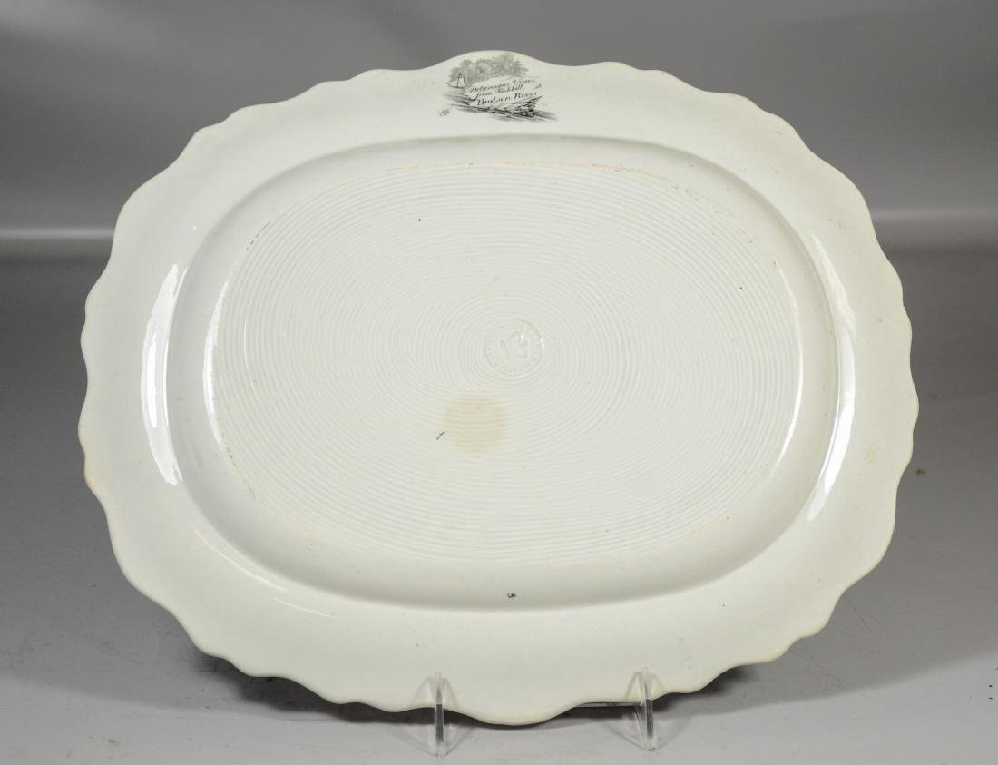 Clews Historical Black Transfer Decorated Platter, - 3