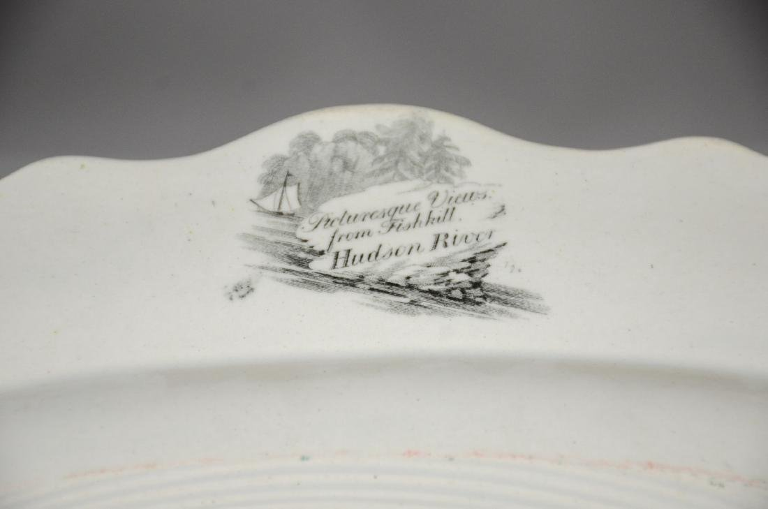 Clews Historical Black Transfer Decorated Platter, - 5