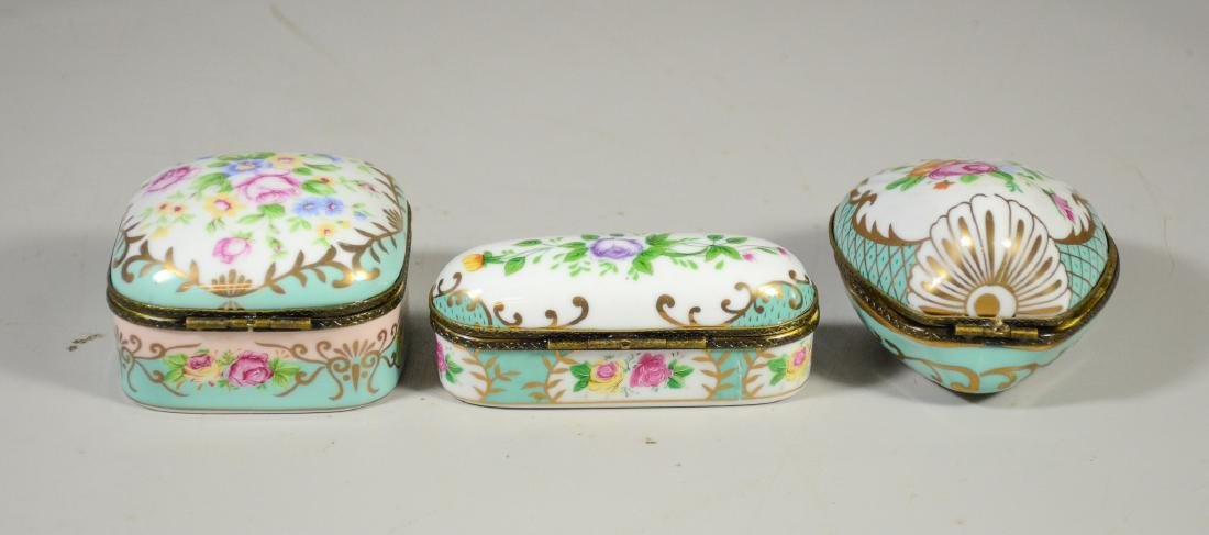 3 Continental floral decorated decorative porcelain - 2