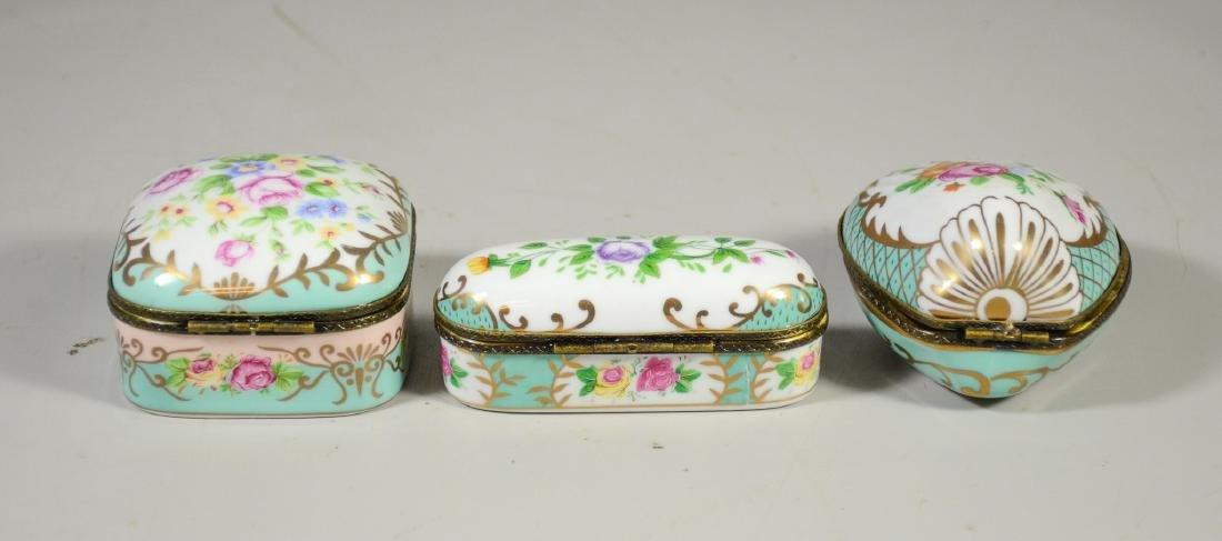 3 Continental floral decorated decorative porcelain - 2