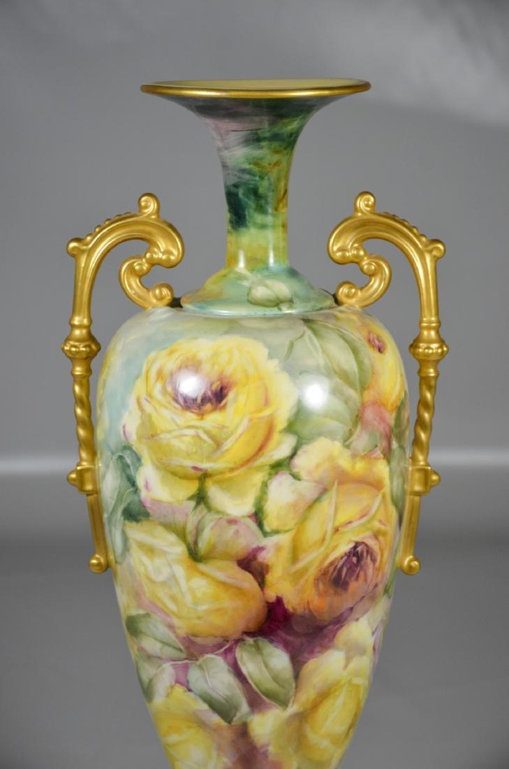 Lenox Belleek floral decorated porcelain double handled - 2