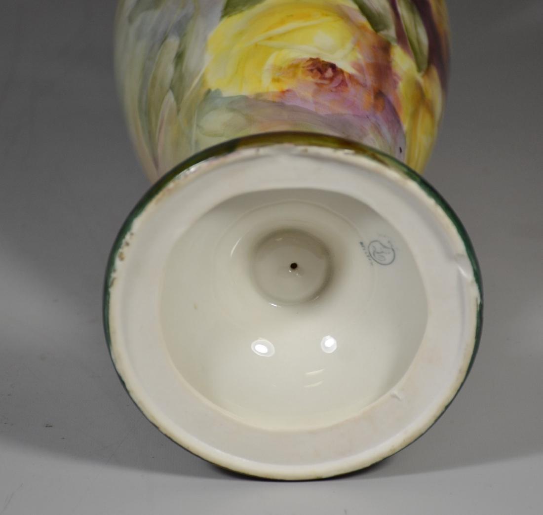 Lenox Belleek floral decorated porcelain double handled - 6