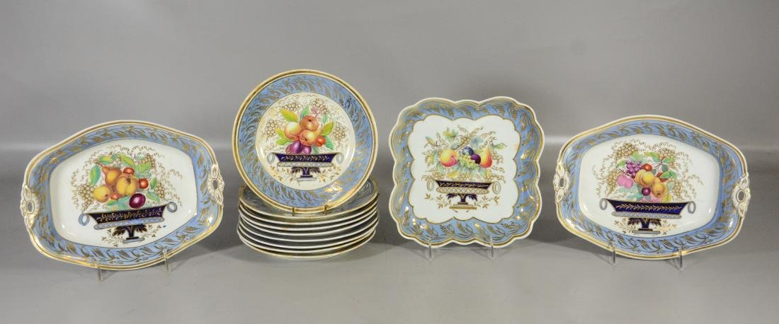 12 Piece English dessert service, to include: 9 plates