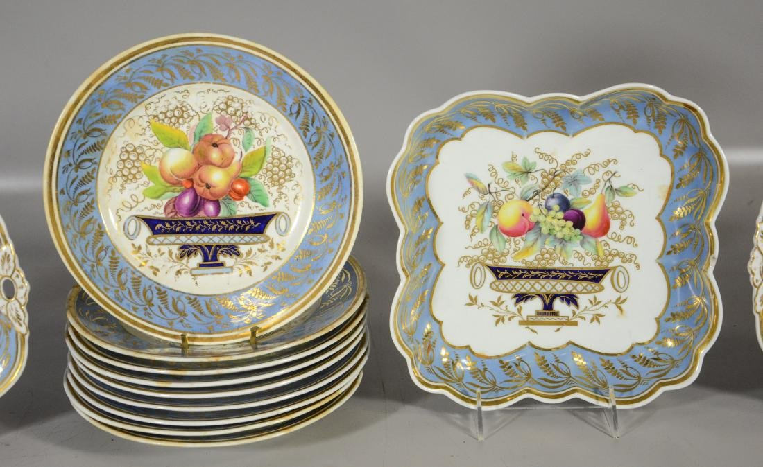 12 Piece English dessert service, to include: 9 plates - 3