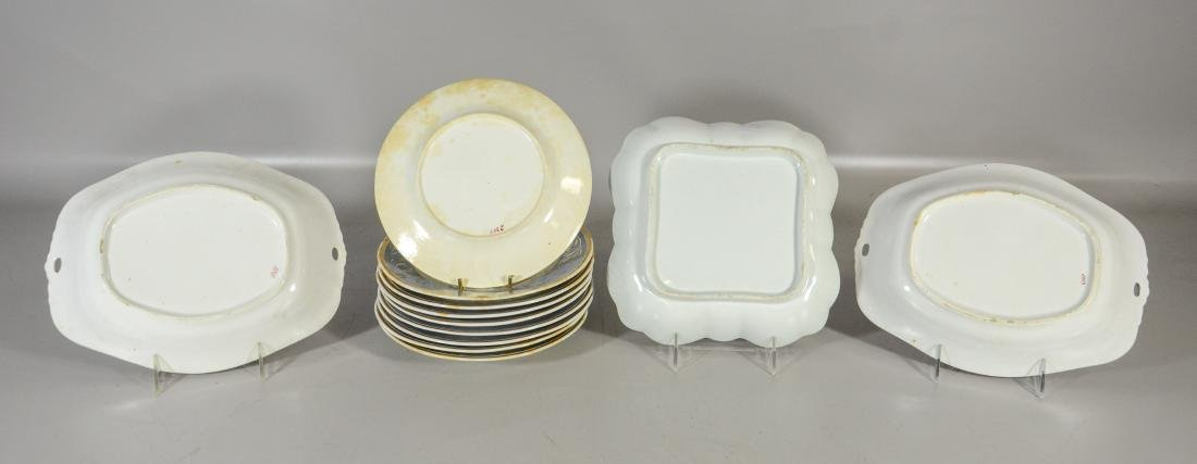 12 Piece English dessert service, to include: 9 plates - 5