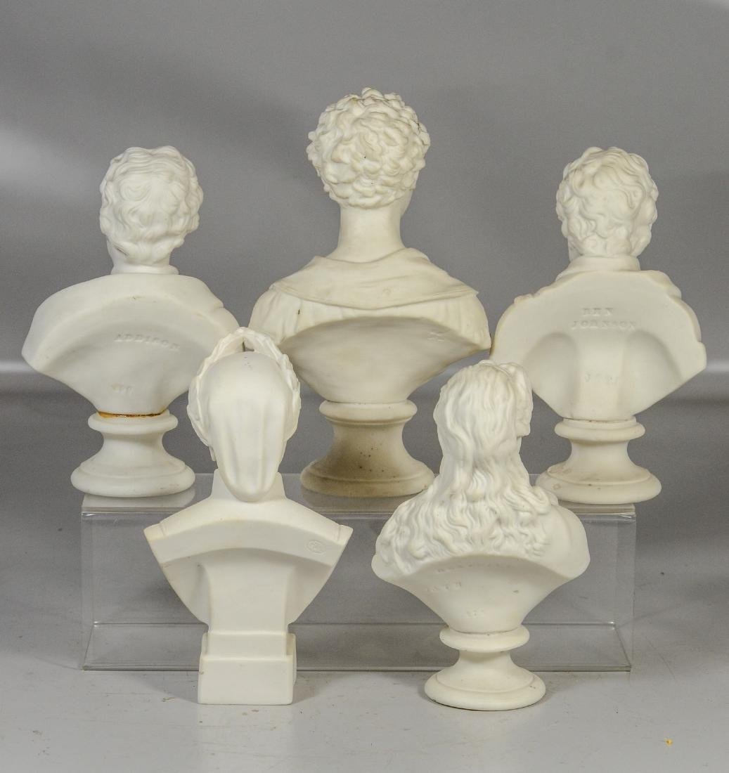 "Five (5) English Parian busts, to include ""Beatrice"" by - 2"